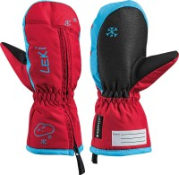 Leki Little Snow Mitt Kinder Fäustel rot-cyan