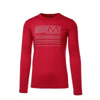 Martini Effort Langarmshirt Herren ruby